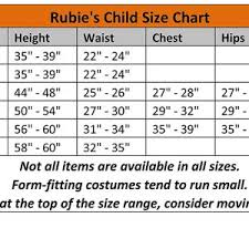 Rubies Size Chart Rubies Day Of The Dead Boy Childs Costume Large