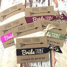 bachelorette party favors hair ties bride tribe goldbridetri