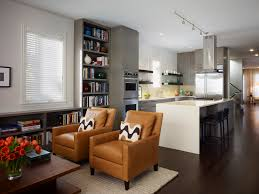 Kitchen and lounge in the same room