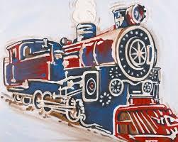 vintage train canvas room dcor carousel designs