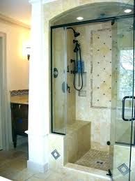 shower curtain for walk in stand up best or glass how walk in shower curtain or door