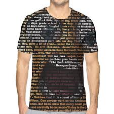 Shirt Design Words Ideas Mens Words Scared Facial Expression 3d Pattern Printed