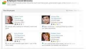 employee contact info the social employee directory on your corporate intranet