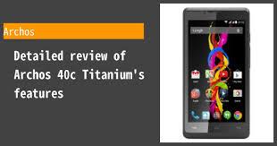 Archos 40c Titanium - Features and ...