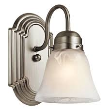 image of bathroom wall sconces brushed nickel