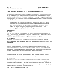 essay writing assignment the sociological perspective