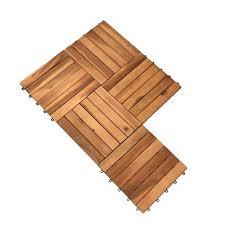Diese hochwertigen bodenfliesen verbinden die behagliche optik des holzes. Holzfliesen 30 X 30 Cm Aus Akazienholz 1 3 M Set Klicksystem