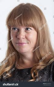 Attractive Caucasian Woman Light Brown Hair People Stock