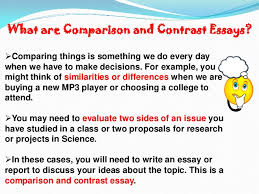 compare and contract essay how to write a successful essay 2