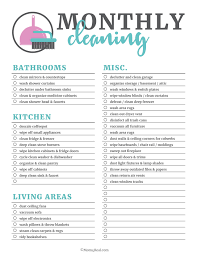 cleaning checklists printable cleaning checklists for daily weekly and monthly cleaning