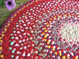 round braided rugs round braided rugs handmade rug in red and wisteria from cotton wool round round braided rugs