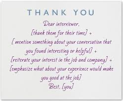 what to write in a thank you note after an interview note job what to write in a thank you note after an interview note job interviews and college