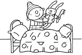 Knuffels Knutselideeën Ukpuk Kleurplaat Puk Cartoon Pajama