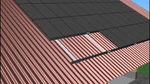 soltecture rooftop mounting system installation on premium corrugated steel sheets metal panels for wall and roof