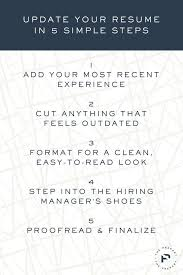 How To Update Your Resume In 40 Simple Steps Pinterest Resume Gorgeous How To Update Resume