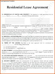 Free Copy Rental Lease Agreement Sample Residential Template ...