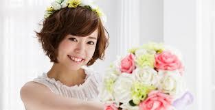 結婚式の花嫁さん向け髪型ショートヘアのアレンジ方法 みんなの