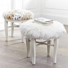 vanity bench seat. Unique Seat White Wood Base Vanity Bench With Soft Fury Top In In Vanity Bench Seat B