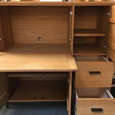 office armoire. room u0026 board linear white oak office armoire image 2