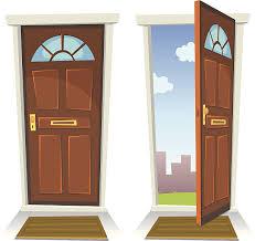 open doors clipart. Cartoon Red Door, Open And Closed Vector Art Illustration Doors Clipart