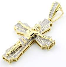 10k gold cross pendant 0 63ctw diamonds curifix 2 inch tall diamond cross mens