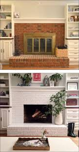fireplace before and after painted brick it will get done if i