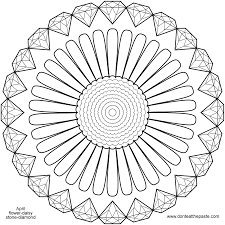 April Birthstone And Flower Mandala