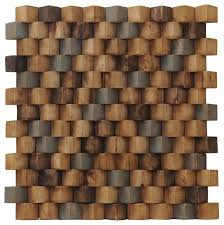 15 75 x15 75 grand terrace wood mosaic multicolor teak wall tiles set of 6 contemporary wall and floor tile by ecotessa