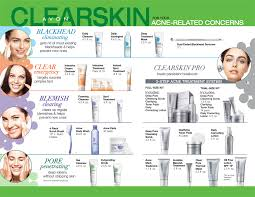 Avon Skin Care Chart Your Atlanta Avon Indep Sales Rep Avons Clearskin