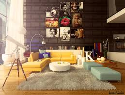 Colorful Living Room Furniture Yellow Sofa A Sunshine Piece For Your Living Room