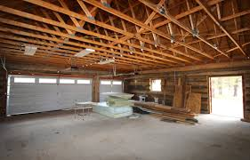 garage inside with car. Inside Of Garage With Car