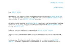 Redundancy Notice Letter Template Bizorb