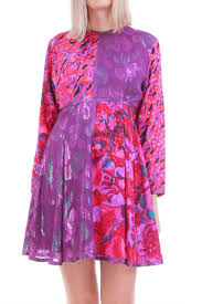 Maggie Shepherd Australian Designer Vintage Metallic Batik Babydoll Mini Dress By Maggie Shepherd Australia