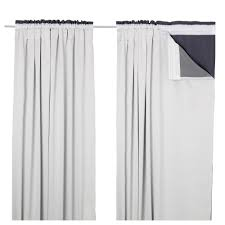 stunning white fabric blackout curtains ikea hanging on single track curtain rod