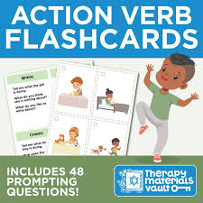 Verb Action Action Verb Flashcards