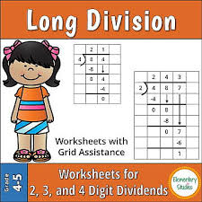 Division Steps Anchor Chart Elementary Studies Long Division