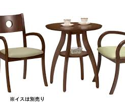 cafe table tea table dining table side table round table dressing width 65 cm round dark