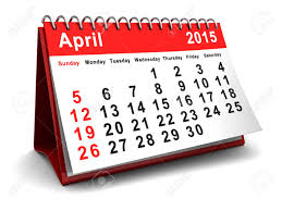 2015 Calendar Page 3d Illustration Of April 2015 Calendar Page Stock Photo Picture And