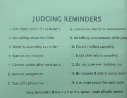 chili cook off judging sheet the art of the science or the science of the art of food judging