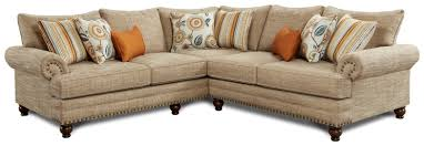 corner furniture piece. Fusion Furniture 2826-2827 2-Piece Corner Sectional - Item Number: 2827KPBotega Oatmeal Piece R