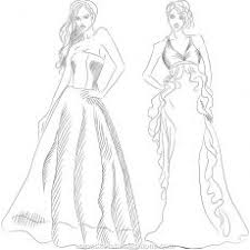 Glamorous Fashion Design Coloring Pages Free Designer Coloring