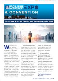 Facilities Design And Management Magazine Fm Cape Town Event Guide Revised Pages 1 12 Text Version