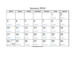2010 Calendar January January 2010 Calendar With Jewish Equivalents