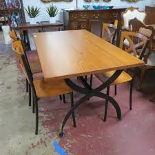 vine mid century modern italian industrial dining table and 4 chairs 495 mid century modern furniture industrial dining mid centur