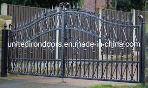 Wrought Iron Fence Styles And Designs China European Custom Design Style Wrought Iron Gate China