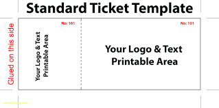 Printable Tickets Templates Word Ticket Template Microsoft Word Ticket Stub Template Tickets 1