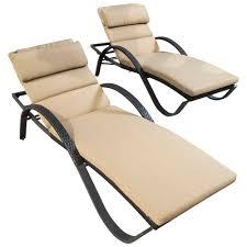 deco garden furniture. RST Brands Deco Patio Lounger With Delano Beige Cushion (2-Pack) Garden Furniture E