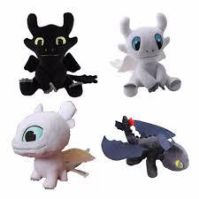 Movie How To Train Your Dragon 3 Light Fury Plush Toy Night