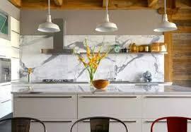 modern kitchen marble backsplash. Plain Modern Kitchen Marble Backsplash In A White Modern Kitchen  Maintenance Astounding To S