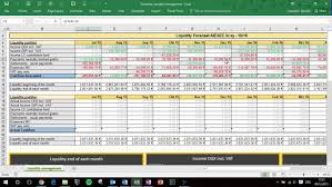 forecast model in excel liquidity forecasting in excel 1 general overview youtube